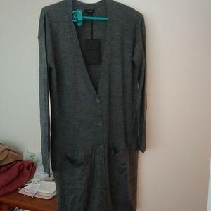Halogen Nordstrom long gray knit cardigan size M